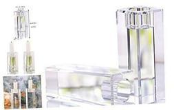 Crystal Candle Holders Set of 2, Elegant Heavy Glass Cuboid