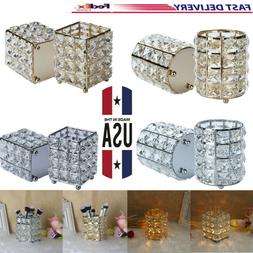 Crystal Candle Holders, Tealight Shining Candlestick Holders