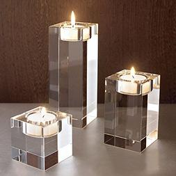 Crystal Candlestick Centerpieces Candle Holder Square Rectan