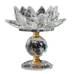 Crystal Lotus Flower Candle Holder Tealights Holder For Home