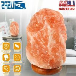 Crystal Rock Salt Lamp Candle Holder Night Light Natural Wit
