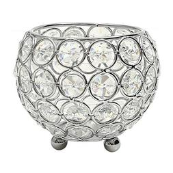 VINCIGANT Silver Crystal Bowl Candle Holders for Aromatherap