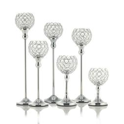 Crystal Votive Candle Holder Candlestick Party Wedding Cente