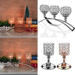 Crystal Votive Candlesticks Candle Holder Wedding Event Banq