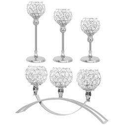 Crystal Votive Pillar Candle Holder Candlestick Candelabra W