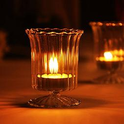 Cup Glass Candle Holder Candelabrum Candlestick Candlelight