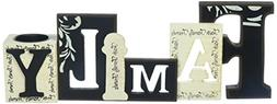 StealStreet Cutout Word Collectible Family with Tea Light Ca