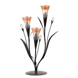 Gallery of Light 10015811 Dawn Lily Triple Candleholder Mult