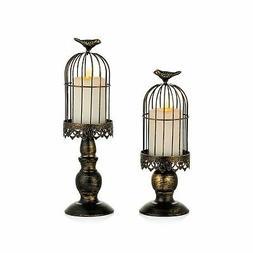 Sziqiqi Decorative Bird Cage Candle Holder Black Vintage Can