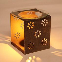 Ryocas Decorative Candle Holder - Vintage/Retro Style Brown