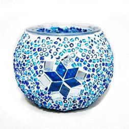 Ryocas Decorative Glass Candle Holder - Boho Chic Bohemian S