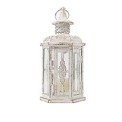White Decorative Metal Lanterns Vintage Style Hanging Lanter