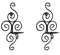 vrinda Decorative Swirling Wall Sconce Plaque Candle Holder,