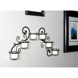 decorative tea light candle holder wall sconce