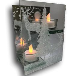 BANBERRY DESIGNS Deer in the Woods Double Tealight Candle Ho