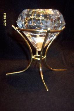Partylite Diamond Glass Candle Holde