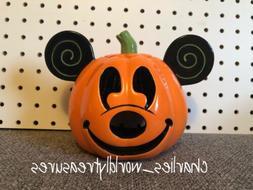 disney parks mickey mouse pumpkin votive candle