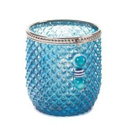 Zingz and Thingz Dominion Glass Candleholder in Teal
