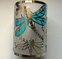 Yankee Candle DRAGONFLY COLLECTION METAL & FROSTED GLASS JAR