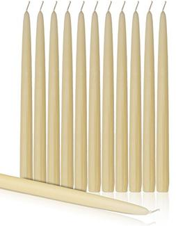 "Higlow Dripless Taper Candles 12"" Inch Tall Wedding, Holiday"