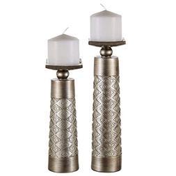 Dublin Decorative Candle Holder Set of 2 - Home Decor Pillar
