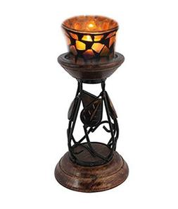 """Easter Day Present, 8"""" handcrafted Wooden Candle Stand for T"""
