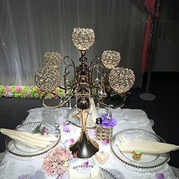 Everbon Elegant Wedding Crystal Centerpiece 5-arm Candelabra