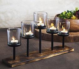 Elegant, Decorative Votive Candle holder Centerpiece, 3 Glas