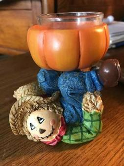 YANKEE CANDLE FALL CANDLE HOLDER / YANKEE CANDLE SCARECROW C
