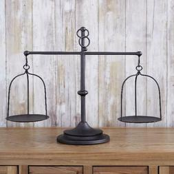 Farmhouse Scale Candleholder - Unique Centerpiece Stand With