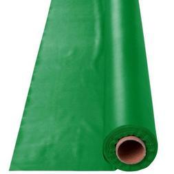 Festive Green Plastic Tableroll 250 Feet Per Roll