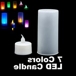 Flameless Blow Out And Blow On LED Tea Light Candle with Fro