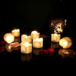 12pcs Flameless Candle Lights with Timer /Electric Amber War