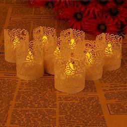 Asenart Flameless Tea Light Votive Wrap Candle Holder Set  f