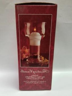 Indiana Glass Floating Candle - New Candle holder with 2 can