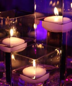 Colored Floating Candles - Royal Blue