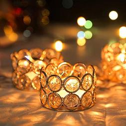 <font><b>VINCIGANT</b></font> Gold Crystal Metal Tea Light G