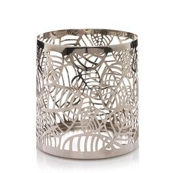 Yankee Candle Frosted Leaves Metal Jar Candle Holder.