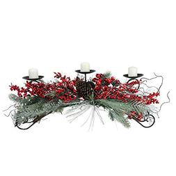 """Melrose 30"""" Frosted Red Berry and Green Pine Needle Christma"""