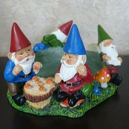 Yankee Candle Garden Gnomes Mushrooms Candle Holder Fits Lar