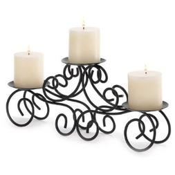 4 X Gifts & Decor Tuscan Candle Holder Wrought Iron Wedding