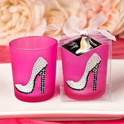 Girly high heel shoe votive candle holder from Fashioncraft