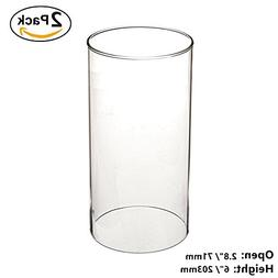 SG Clear Candle Holder Glass Cylinder Vase Glass Chimney Lam