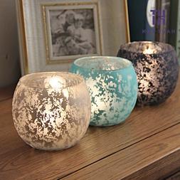 Glass Color Mottle Ball Candlestick <font><b>Candle</b></fon