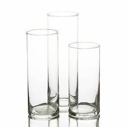 Eastland Glass Cylinder Vases Set of 3, Home, Wedding & Even