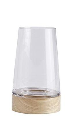 "KJ Collection 8.25"" Glass Hurricane Storm Lantern Candle Hol"
