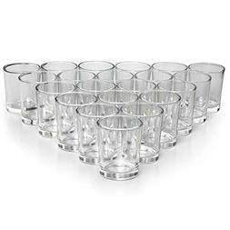 Letine Glass Votive Candle Holders Set of 72 - Clear Tealigh