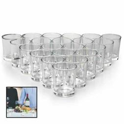 Glass Votive Candle Holders Set Of 72 Clear Tealight Holder
