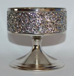 Bath & Body Works Glittering Pedestal 3 Wick Candle Sleeve H
