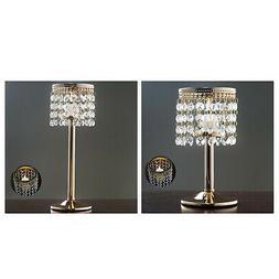Gold Elegant Metal Votive Tealight Crystal Candle Holder Wed